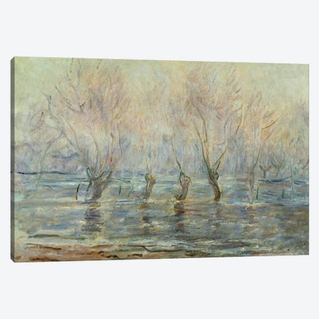 Flood in Giverny; L'Inondation a Giverny, c.1896  Canvas Print #BMN5896} by Claude Monet Art Print