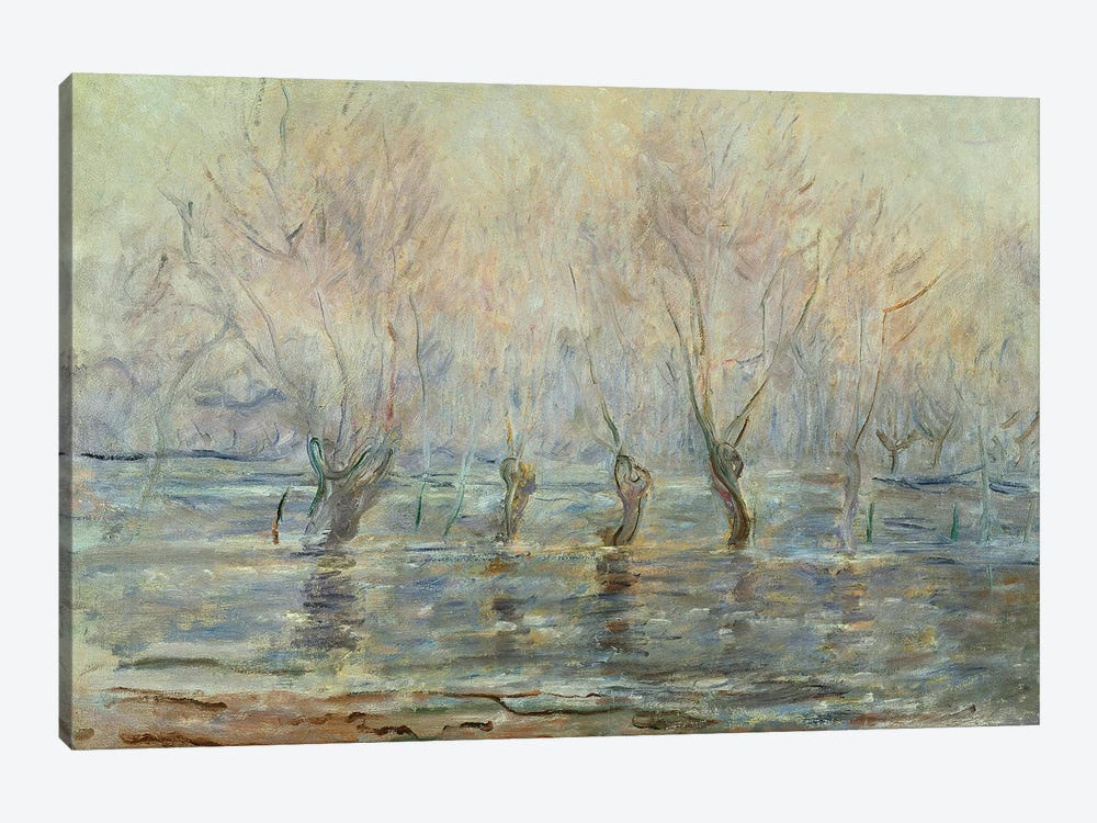 Flood in Giverny; L'Inondation a Giverny, c.1896  by Claude Monet 1-piece Canvas Print