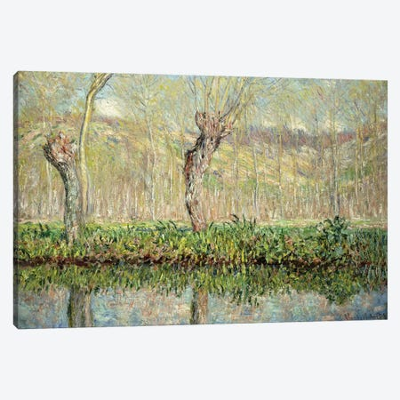Spring, the Border of l'Epte; Printemps, Bord de l'Epte, 1885  Canvas Print #BMN5899} by Claude Monet Canvas Wall Art