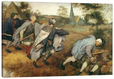Parable of the Blind, 1568  Canvas Art Print