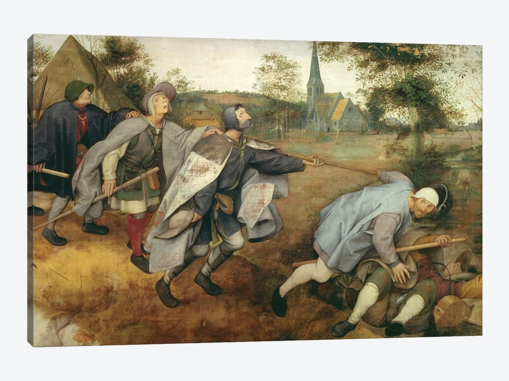 Parable of the Blind, 1568  by Pieter Bruegel 1-piece Canvas Art