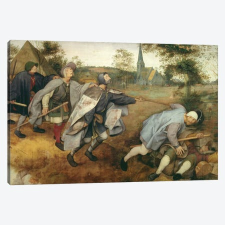 Parable of the Blind, 1568  Canvas Print #BMN589} by Pieter Brueghel the Elder Canvas Art Print