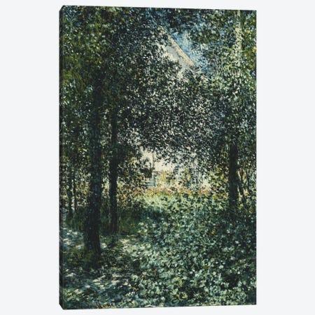 Thicket: The House of Argenteuil (Les Broussailles: La Maison d'Argenteuil), 1876  Canvas Print #BMN5900} by Claude Monet Canvas Art