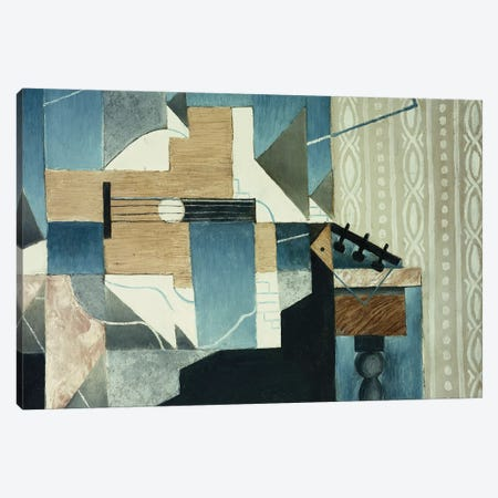 Guitar on Table; La Guitare sur la Table, 1913  Canvas Print #BMN5901} by Juan Gris Canvas Wall Art