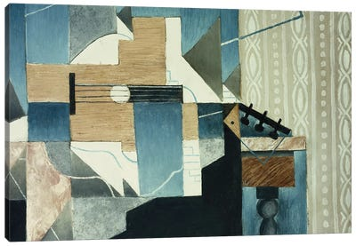 Guitar on Table; La Guitare sur la Table, 1913  Canvas Art Print