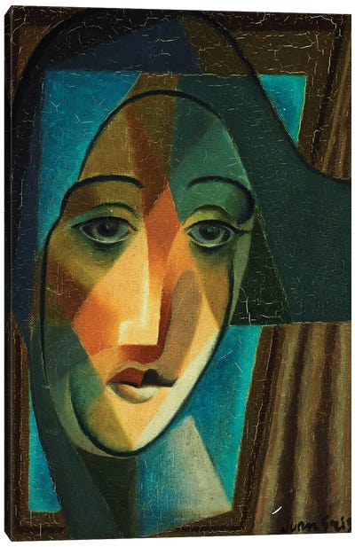 Head of a Harlequin; Tete d'Arlequin, 1924  Canvas Art Print