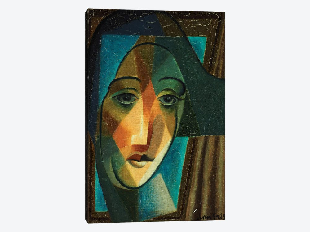 Head of a Harlequin; Tete d'Arlequin, 1924  by Juan Gris 1-piece Canvas Art Print