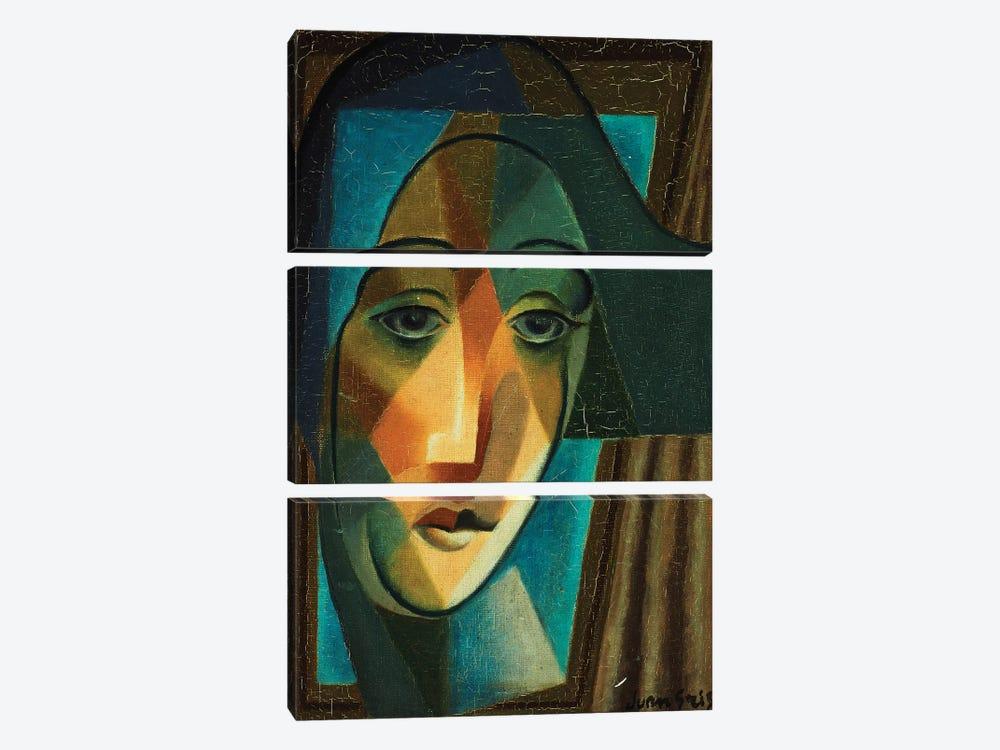 Head of a Harlequin; Tete d'Arlequin, 1924  by Juan Gris 3-piece Canvas Art Print
