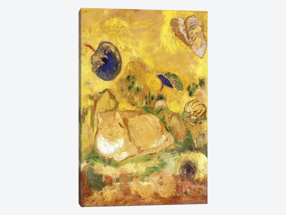 Bazon, the Artist's Cat; Bazon, le Chat de l'Artiste, c.1905 by Odilon Redon 1-piece Canvas Art
