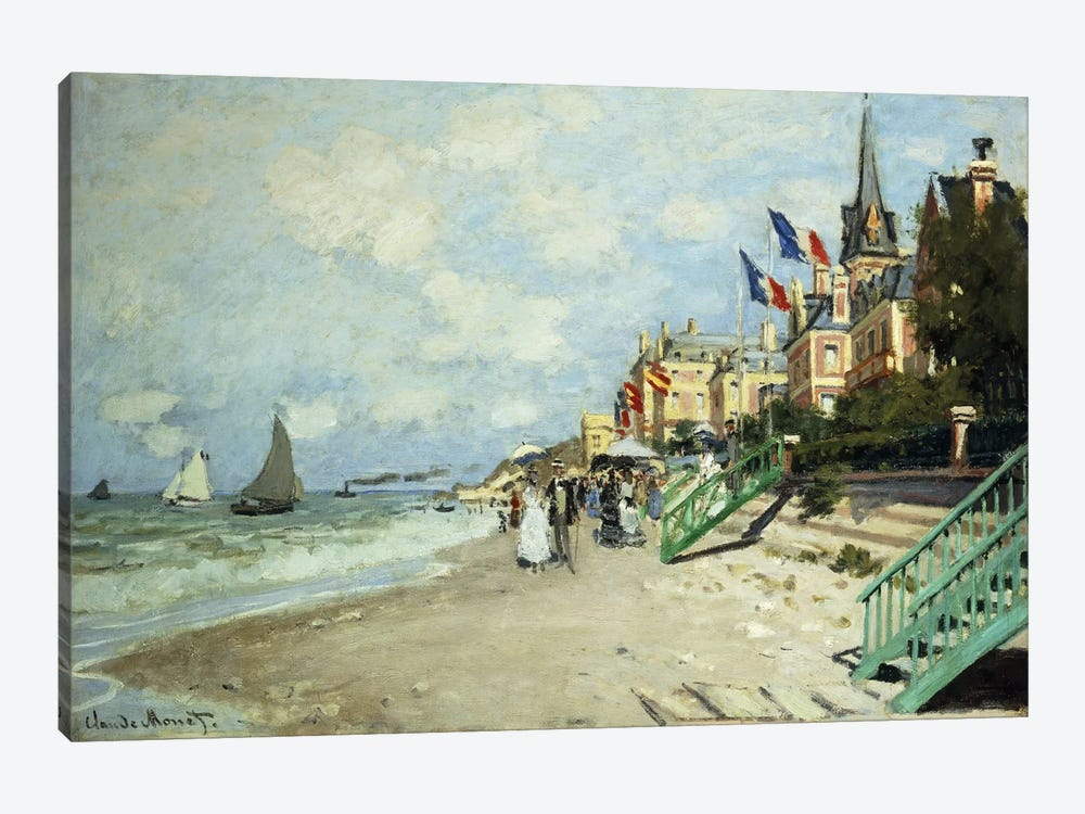 The Beach at Trouville (La Plage a Trouville), 1870 by Claude Monet 1-piece Canvas Art