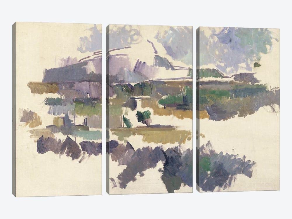 Montagne Sainte-Victoire, 1904-05  by Paul Cezanne 3-piece Canvas Artwork