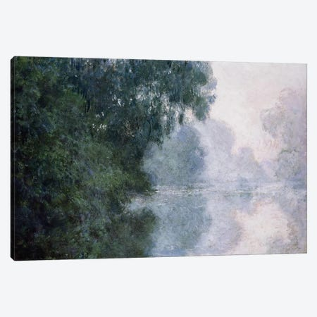Morning on the Seine, Effect of Mist; Matinee sur la Seine, Effet de Brume, 1897  Canvas Print #BMN5910} by Claude Monet Canvas Print