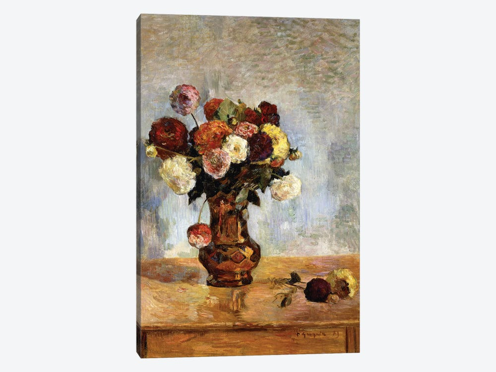Les Dahlias, 1885  1-piece Canvas Art Print