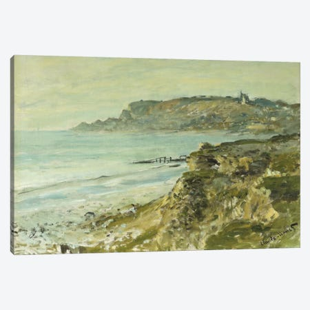 The Cliff at Sainte-Adresse; La Falaise de Saint Adresse, 1873  Canvas Print #BMN5915} by Claude Monet Canvas Wall Art