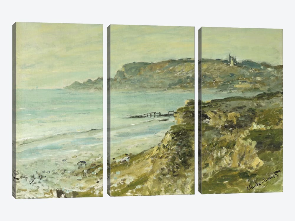 The Cliff at Sainte-Adresse; La Falaise de Saint Adresse, 1873  by Claude Monet 3-piece Canvas Art Print