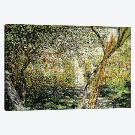 A Garden in Vetheuil; Le Jardin de Vetheuil, 1881  Canvas Print #BMN5916} by Claude Monet Canvas Art