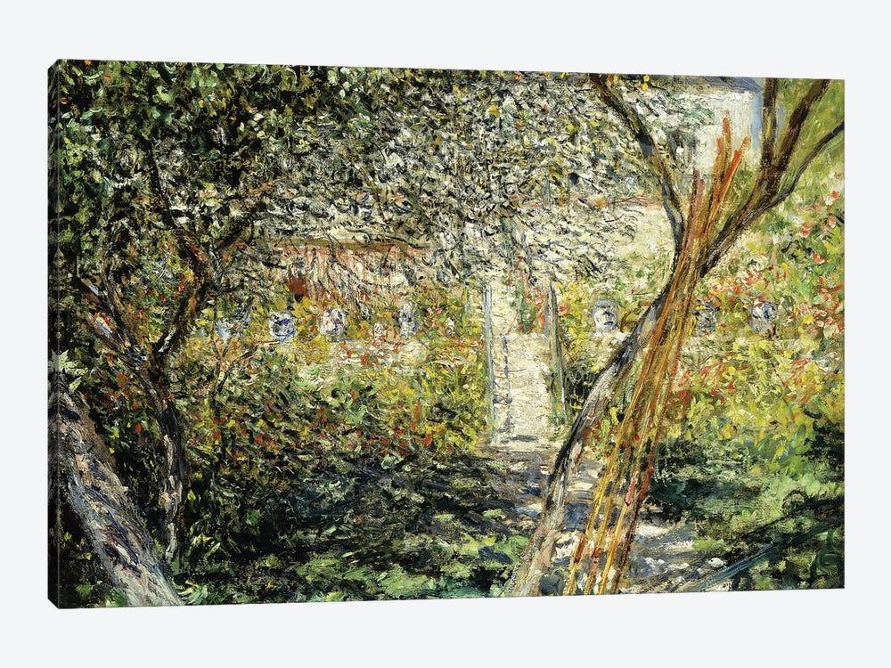 A Garden in Vetheuil; Le Jardin de Vetheuil, 1881  by Claude Monet 1-piece Canvas Artwork
