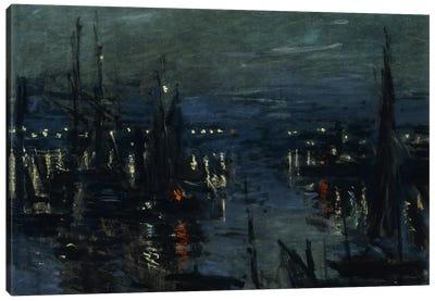 The Port of Le Havre, Night Effect (Le Port de Havre, effet du Nuit), 1873  Canvas Print #BMN5918