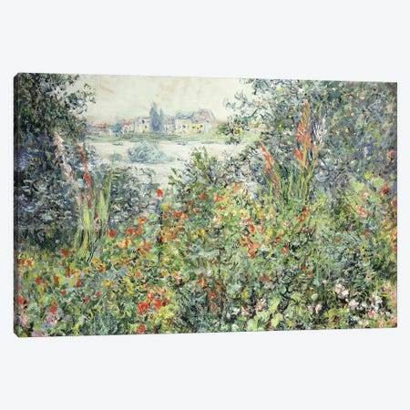 Flowers at Vetheuil; Fleurs a Vetheuil, 1881  Canvas Print #BMN5919} by Claude Monet Canvas Print