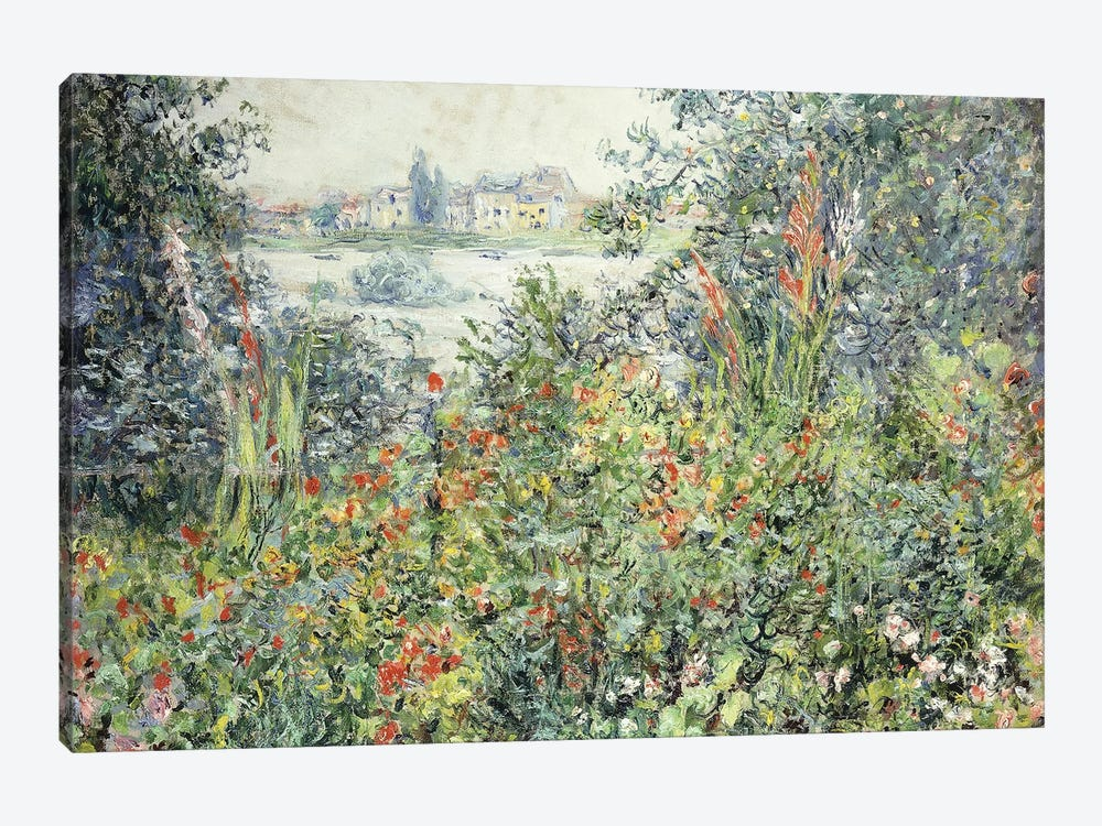 Flowers at Vetheuil; Fleurs a Vetheuil, 1881  by Claude Monet 1-piece Canvas Art Print