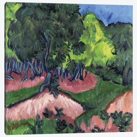 Landscape with Chestnut Tree; Landschaft mit Kastanienbaum, 1913  Canvas Print #BMN5927} by Ernst Ludwig Kirchner Canvas Print