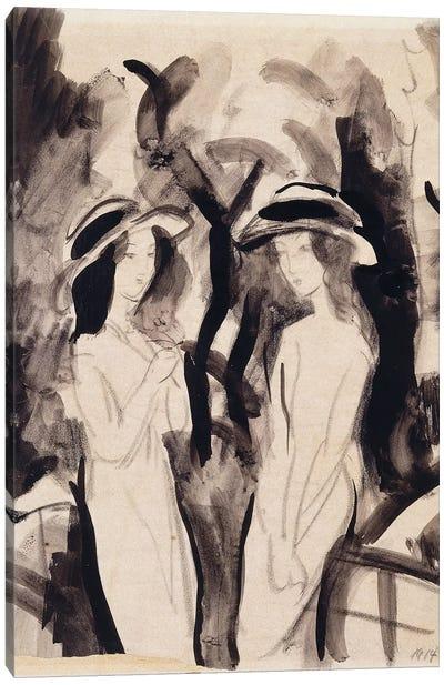 Two Girls; Zwei Madchen, 1914  Canvas Art Print