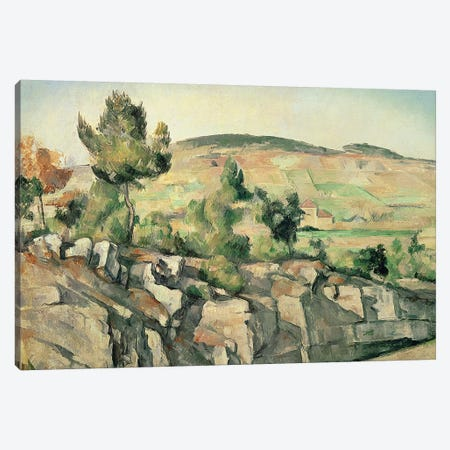 Hillside in Provence, c.1886-90  Canvas Print #BMN592} by Paul Cezanne Canvas Artwork