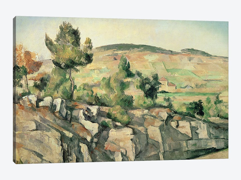 Hillside in Provence, c.1886-90  by Paul Cezanne 1-piece Canvas Artwork
