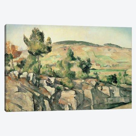 Hillside in Provence, c.1886-90  Canvas Print #BMN592} by Paul Cezanne Canvas Artwork