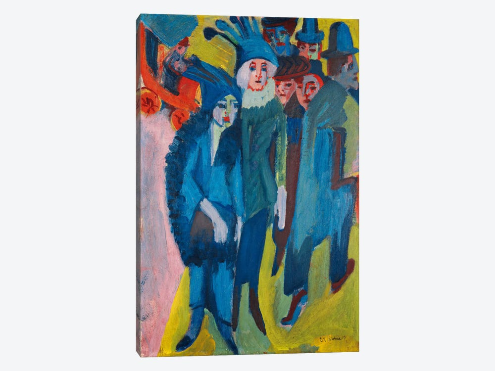 Street Scene; Strassenszene, 1913  1-piece Canvas Wall Art
