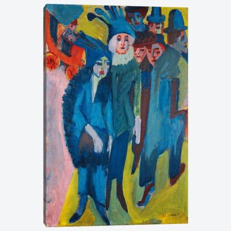 Street Scene; Strassenszene, 1913  Canvas Print #BMN5930} by Ernst Ludwig Kirchner Canvas Print