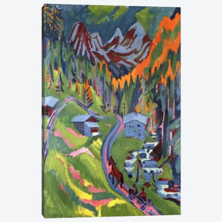 Sertig Path in Summer; Sertigweg im Sommer, 1923  Canvas Print #BMN5931} by Ernst Ludwig Kirchner Canvas Print