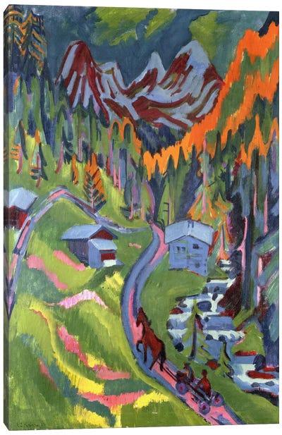 Sertig Path in Summer; Sertigweg im Sommer, 1923  Canvas Art Print