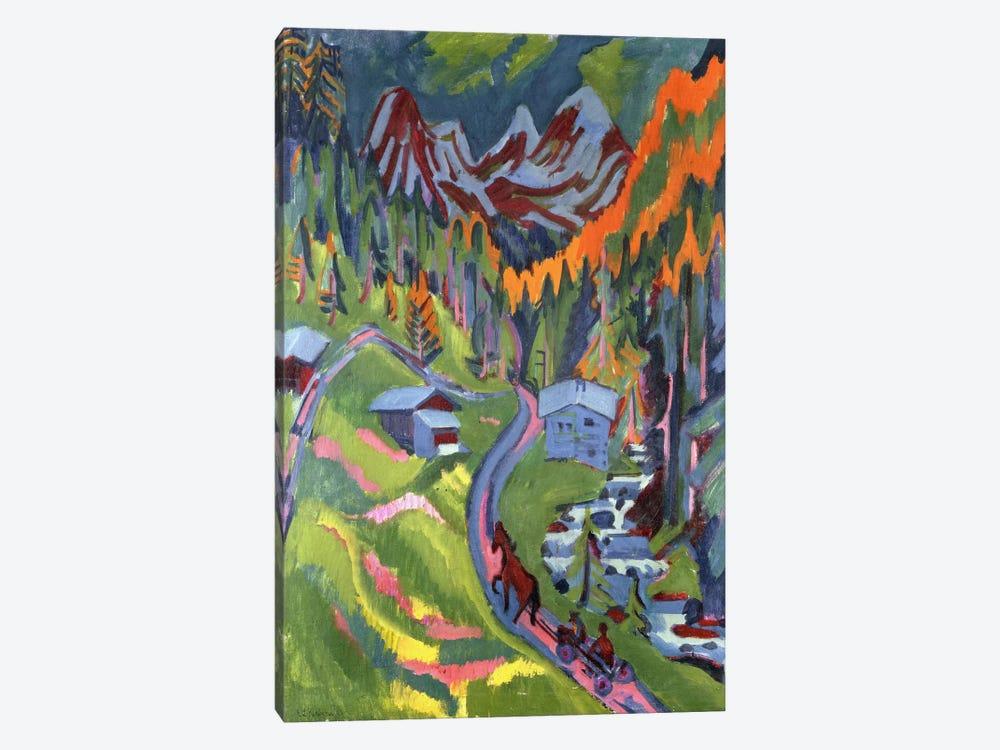 Sertig Path in Summer; Sertigweg im Sommer, 1923  by Ernst Ludwig Kirchner 1-piece Canvas Print