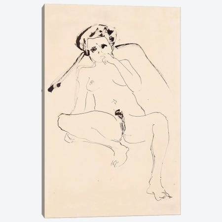 Reclining Nude; Liegender Akt, 1919  Canvas Print #BMN5933} by Ernst Ludwig Kirchner Canvas Print