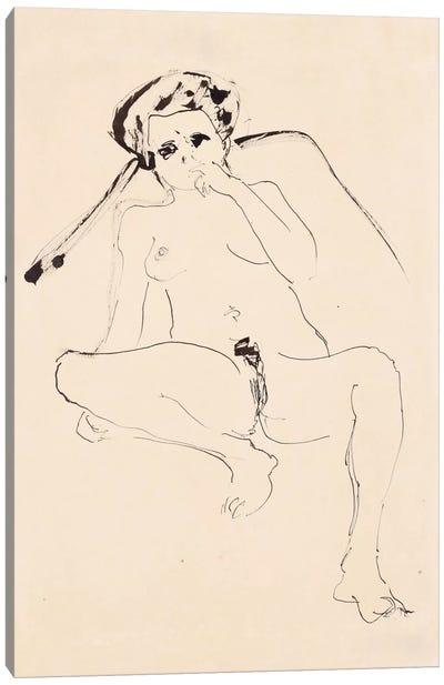Reclining Nude; Liegender Akt, 1919  Canvas Print #BMN5933