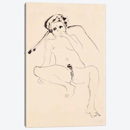 Reclining Nude; Liegender Akt, 1919  Canvas Print #BMN5933} by Ernst Ludwig Kirchner Canvas Print