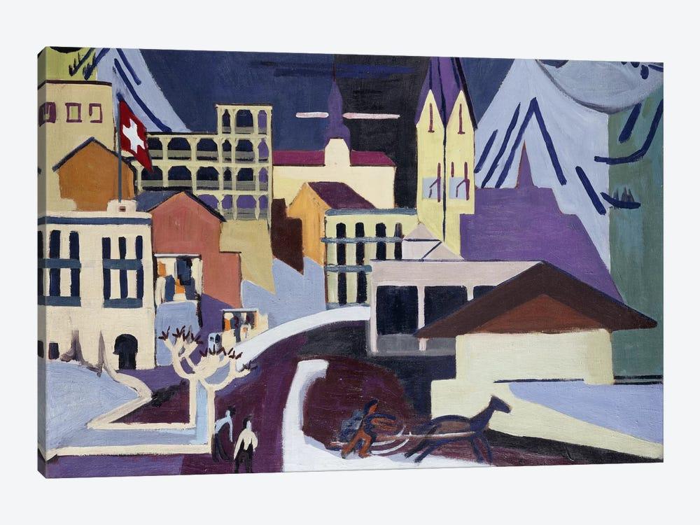 Davos-Platz Railway Station; Davos-Platz am Banhof, 1931  by Ernst Ludwig Kirchner 1-piece Canvas Art