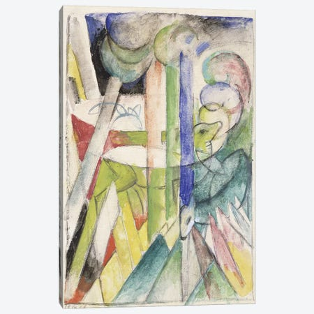 Mountain Goat; Bergziegen, 1914  Canvas Print #BMN5935} by Franz Marc Canvas Art