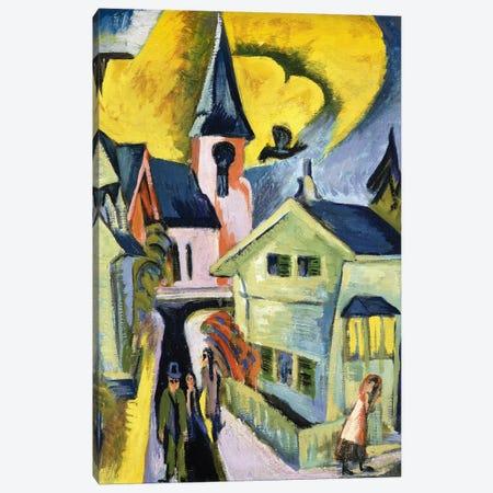 Konigstein with Red Church; Konigstein mit roter Kirche, 1916  Canvas Print #BMN5937} by Ernst Ludwig Kirchner Canvas Wall Art
