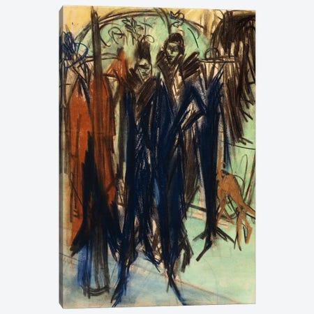 Prostitute, Friedrichstrasse, Berlin  Canvas Print #BMN5939} by Ernst Ludwig Kirchner Canvas Art Print