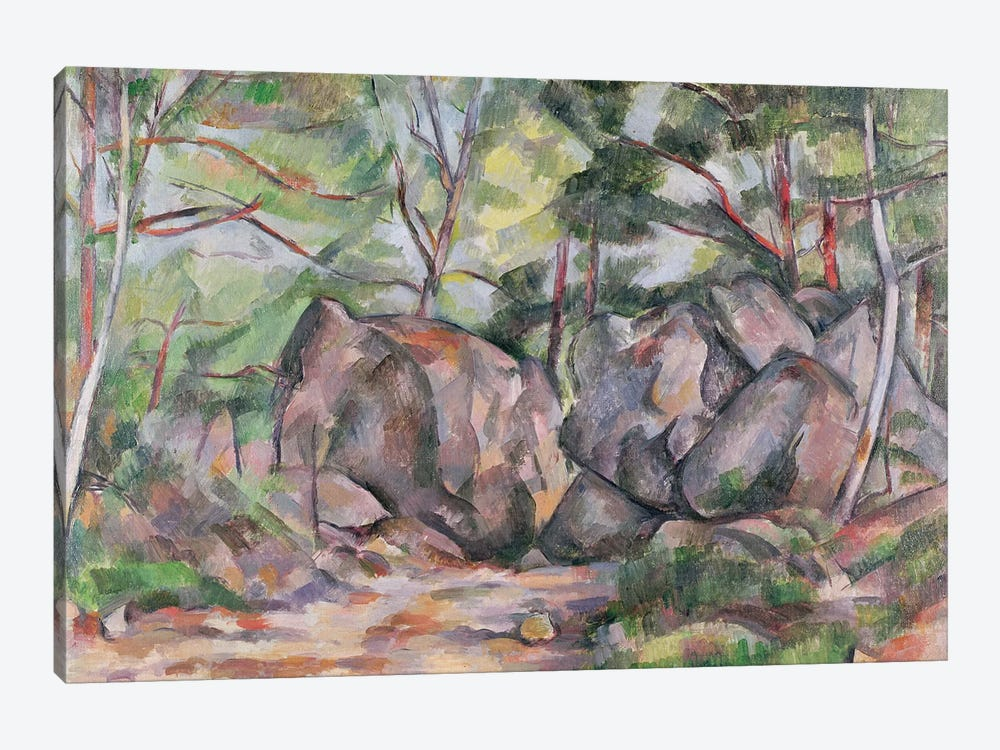 Woodland with Boulders, 1893  by Paul Cezanne 1-piece Canvas Print