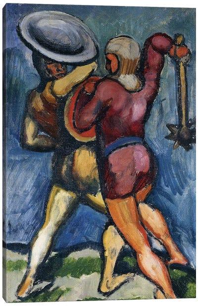 Two Warriors; Zwei Kampfende, 1910  Canvas Art Print