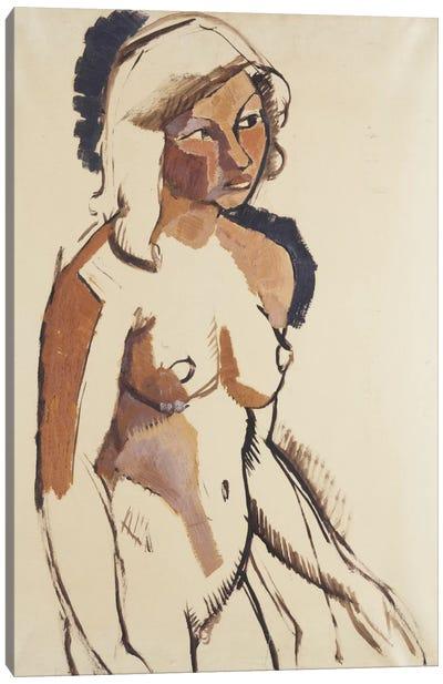 The Italian Girl, three quarter length, Looking to the Right; L'Italienne, de Trois Quarts Regardant vers la Droite, c.1910-11  Canvas Art Print