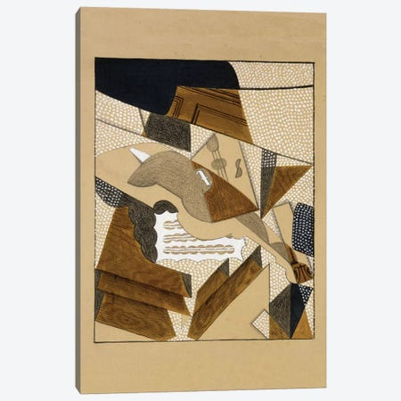 Le Violon, c.1915-1916  Canvas Print #BMN5947} by Juan Gris Art Print