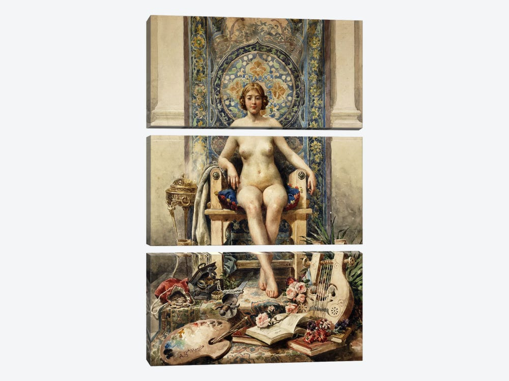 The Favourite by Antonio Garcia Mencia 3-piece Canvas Art