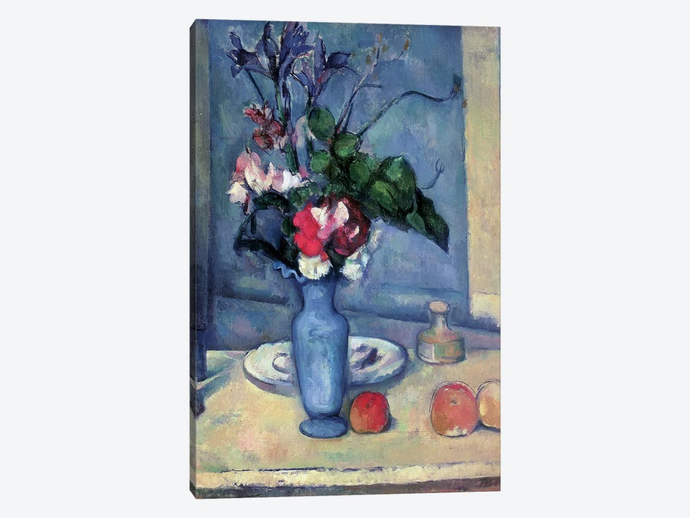 The Blue Vase 1889 90 Canvas Art By Paul Cezanne Icanvas