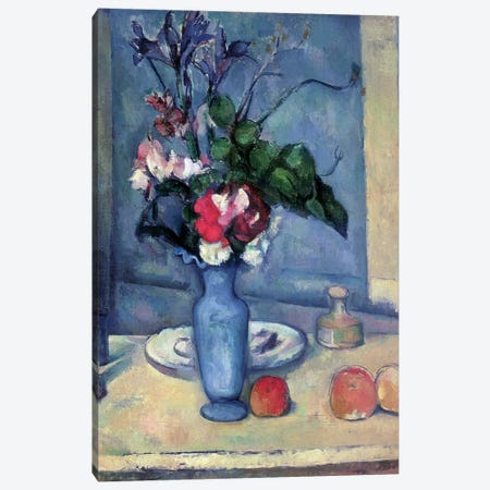 The Blue Vase, 1889-90  Canvas Print #BMN594} by Paul Cezanne Canvas Print
