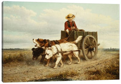 The Dog Cart Canvas Art Print