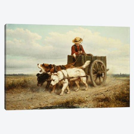 The Dog Cart Canvas Print #BMN5950} by Henriette Ronner-Knip Art Print